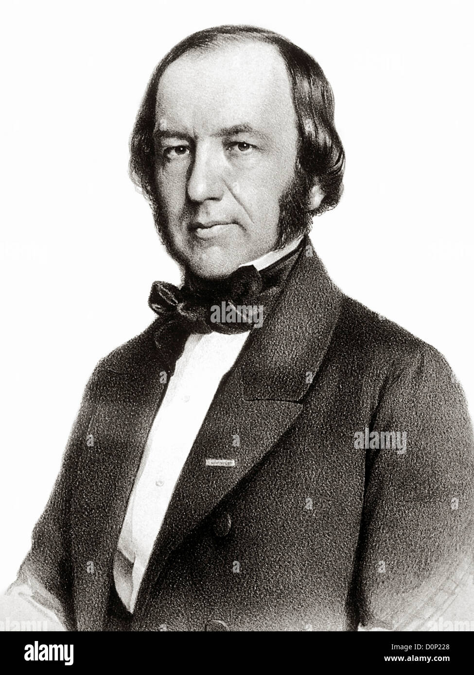 A portrait French physiologist Claude Bernard (1813-1878). He was author 'An Introduction Study Experimental - Stock Image