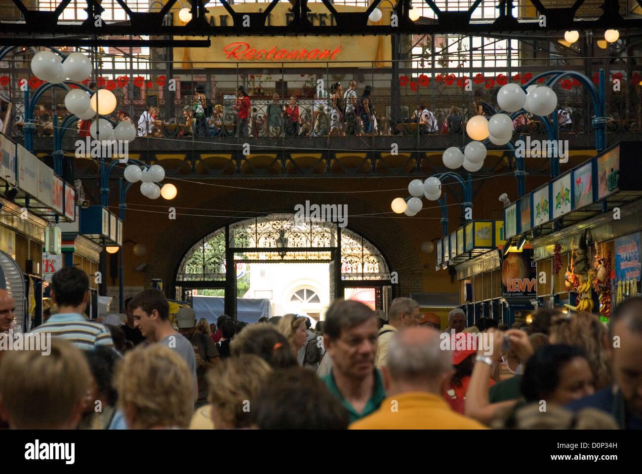 Magyar market hall, Budapest, Hungary - Stock Image