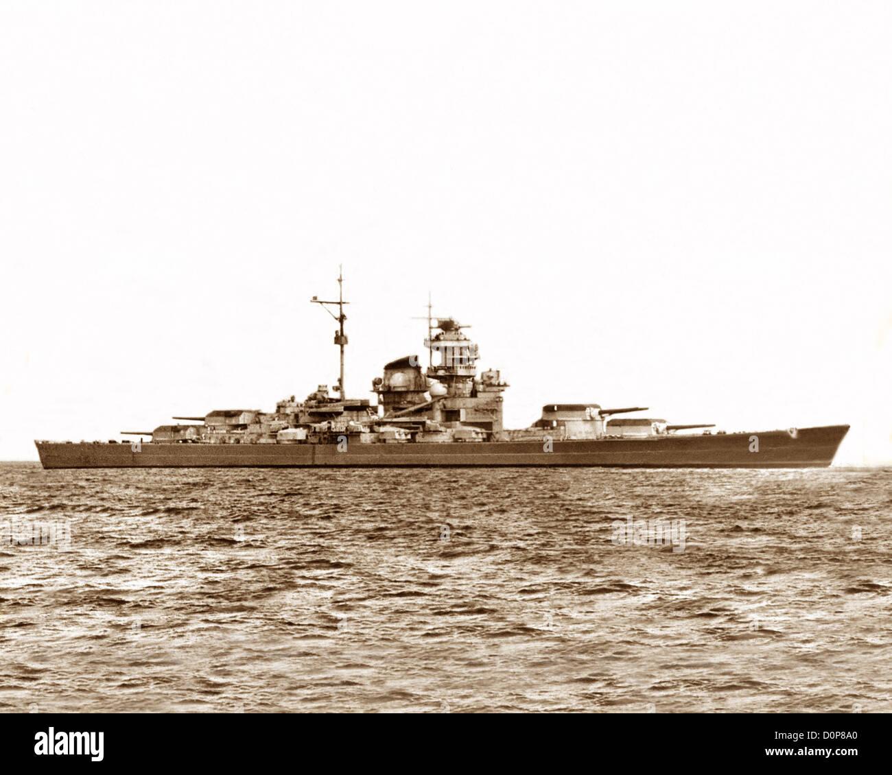 German Battleship Tirpitz WW2 Stock Photo