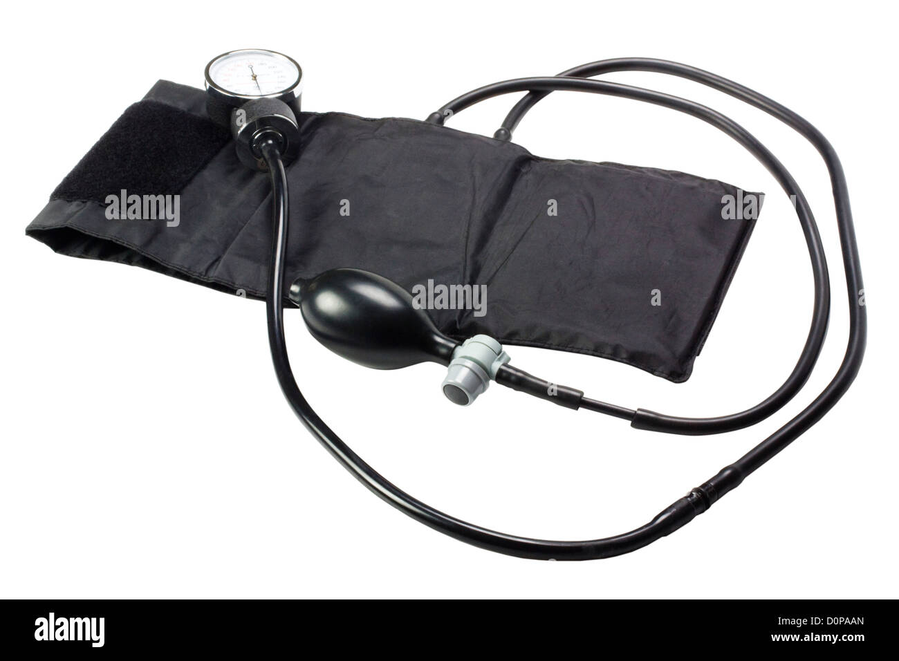 Close-up of a blood pressure gauge - Stock Image