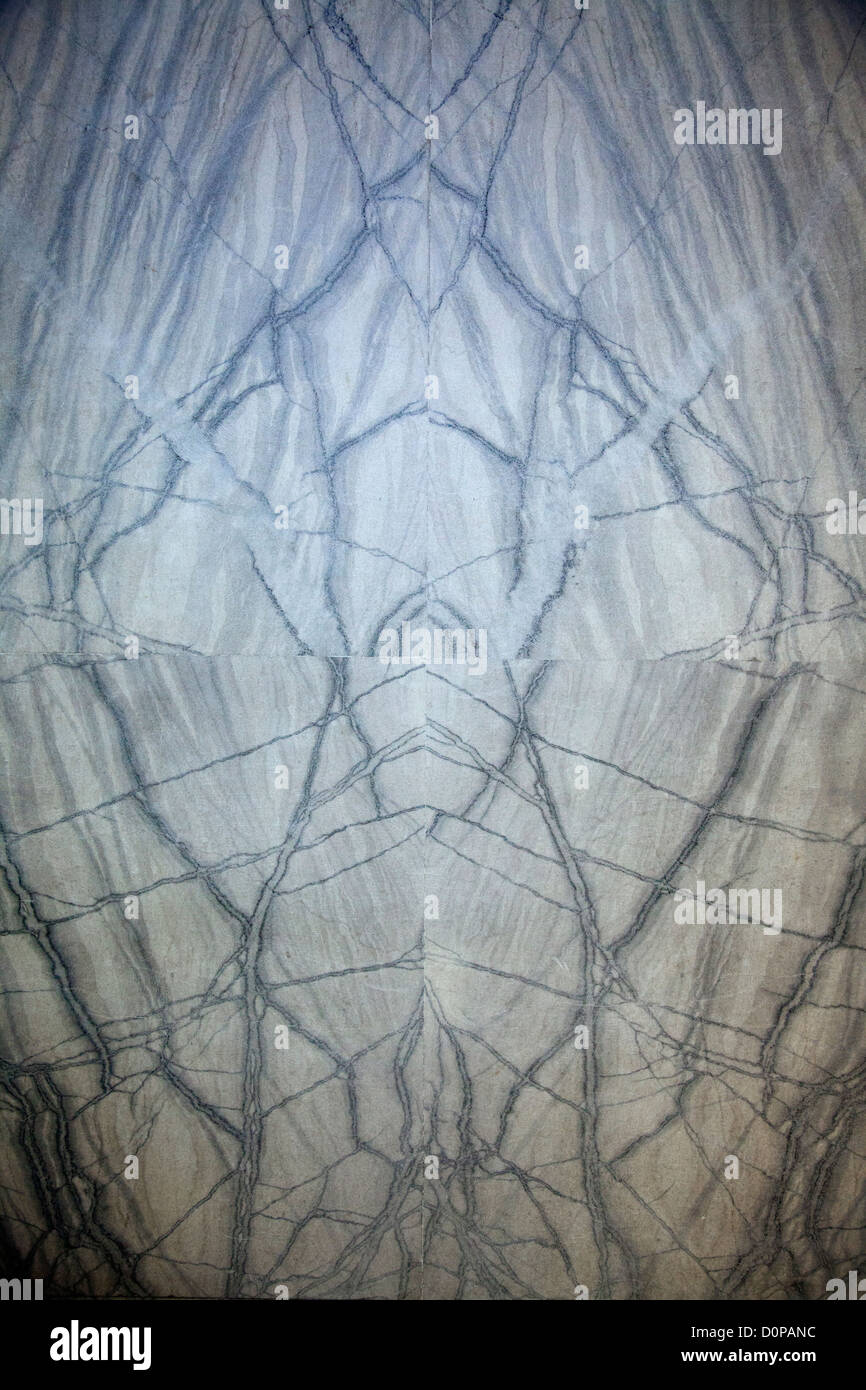 Marble Slabs placed in Symmetry on Foyer Wall creating Alien ...