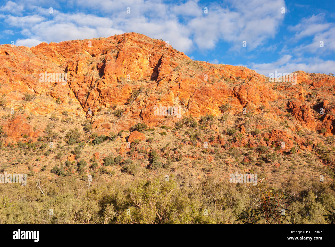 Rugged cliffs in Trephina Gorge in the East MacDonnell Ranges near Alice Springs - Stock Image