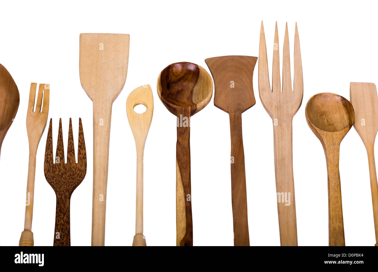 Close-up of assorted wooden kitchen utensils Stock Photo: 52123208 ...