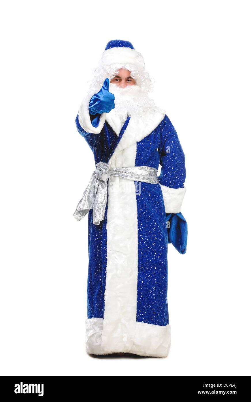 Travesty Actors Genre Depict Santa Claus - Stock Image