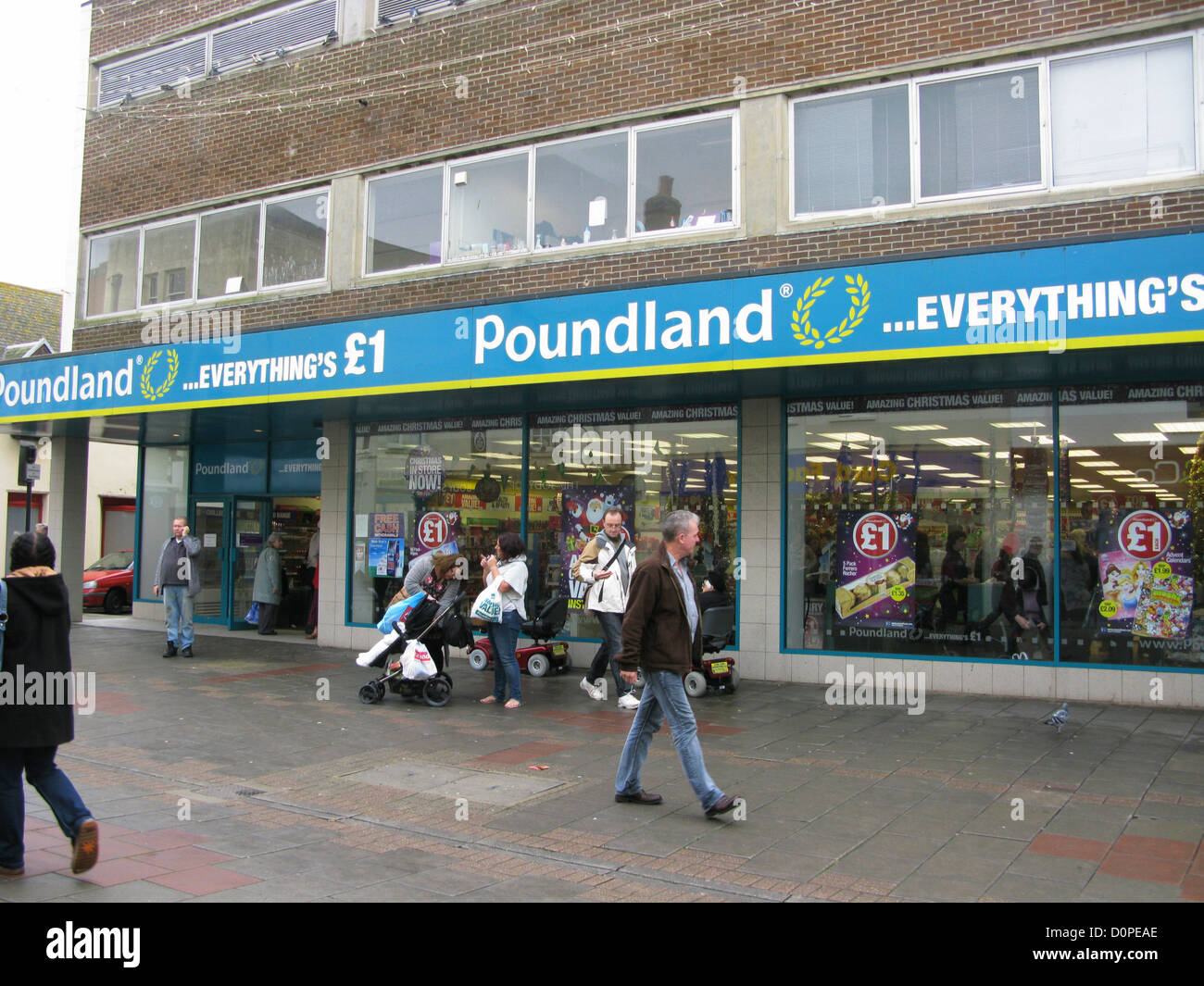 Poundland discount store shop Worthing West Sussex UK - Stock Image