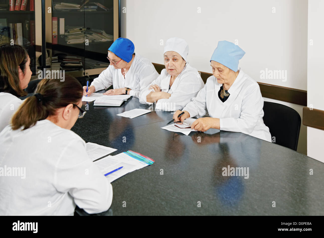 Physicians at the meeting - Stock Image