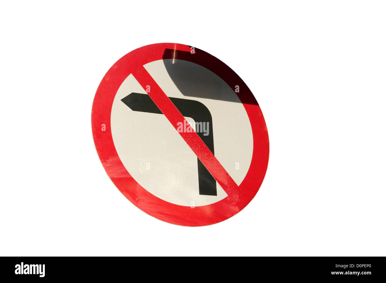 No Left Turn Road Sign - Stock Image