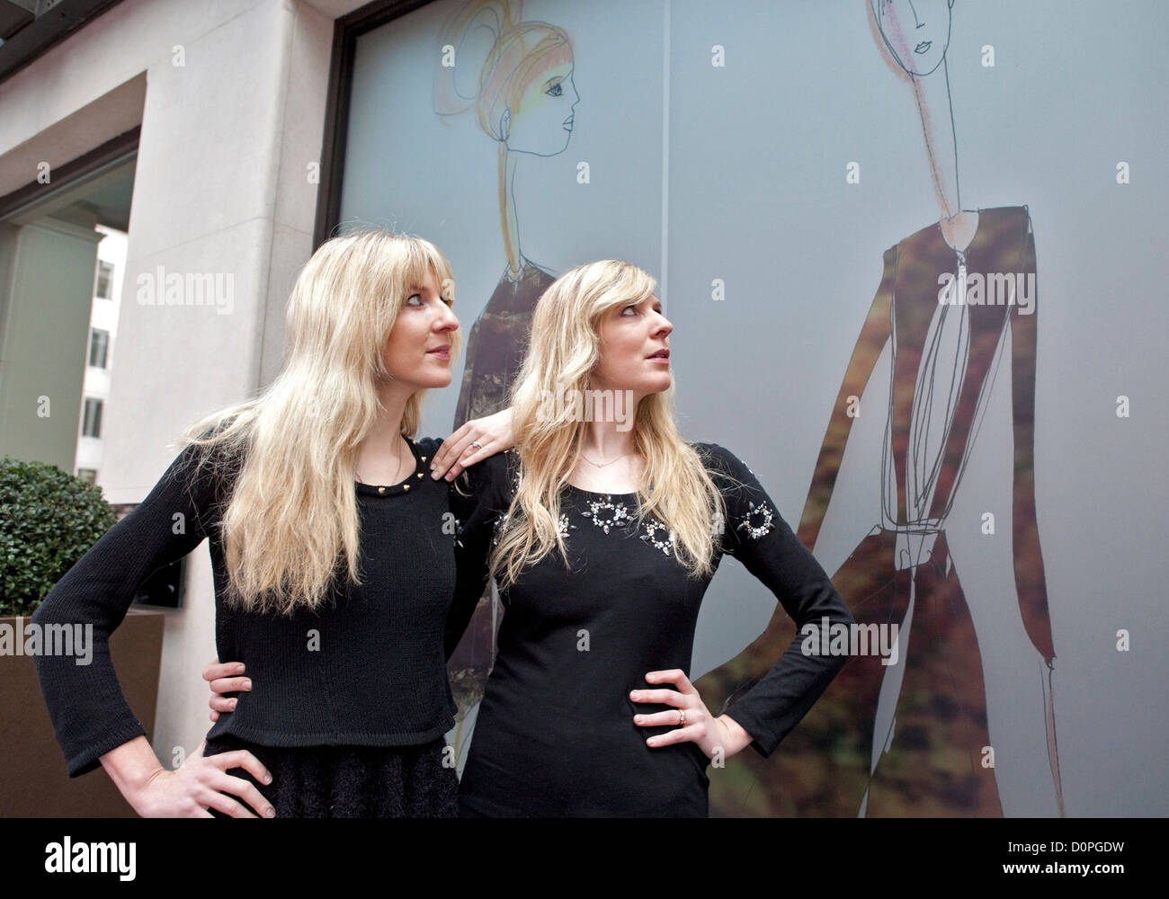 The May Fair Hotel as it unveils its spectacular designer windows by Felder & Felder in celebration of London Fashion Stock Photo