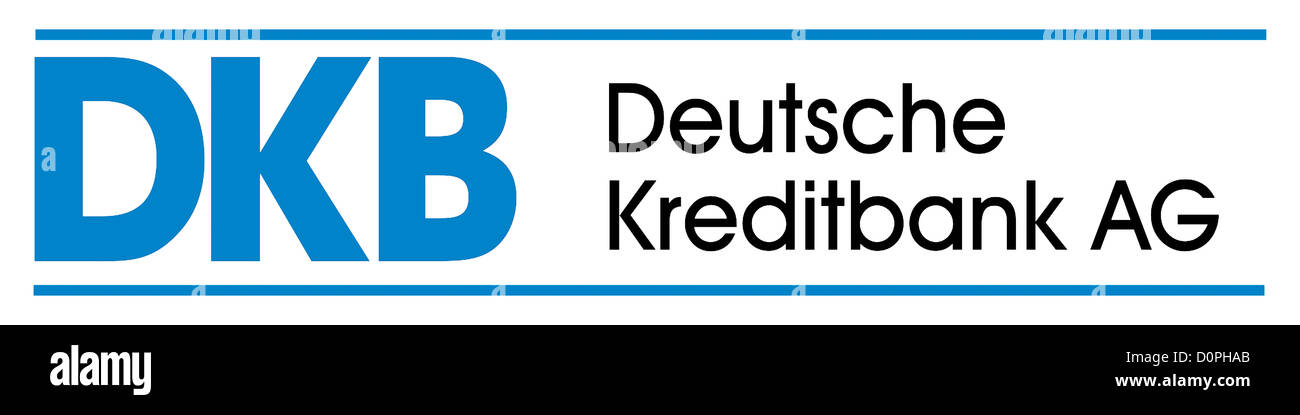 Logo the German credit bank DKB with seat in Berlin. - Stock Image