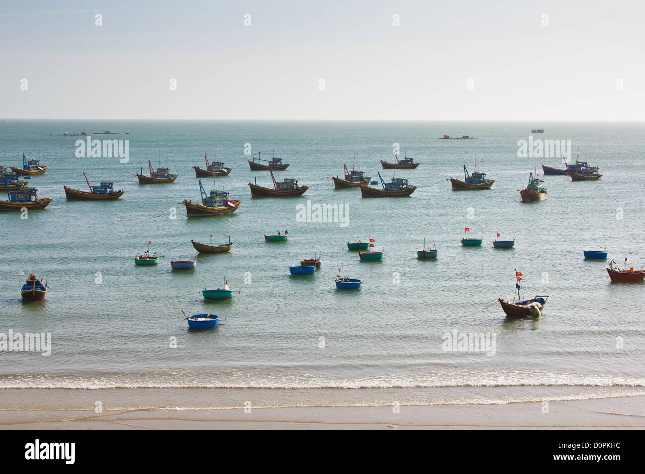 Fishing village in Mui Ne,Vietnam Stock Photo