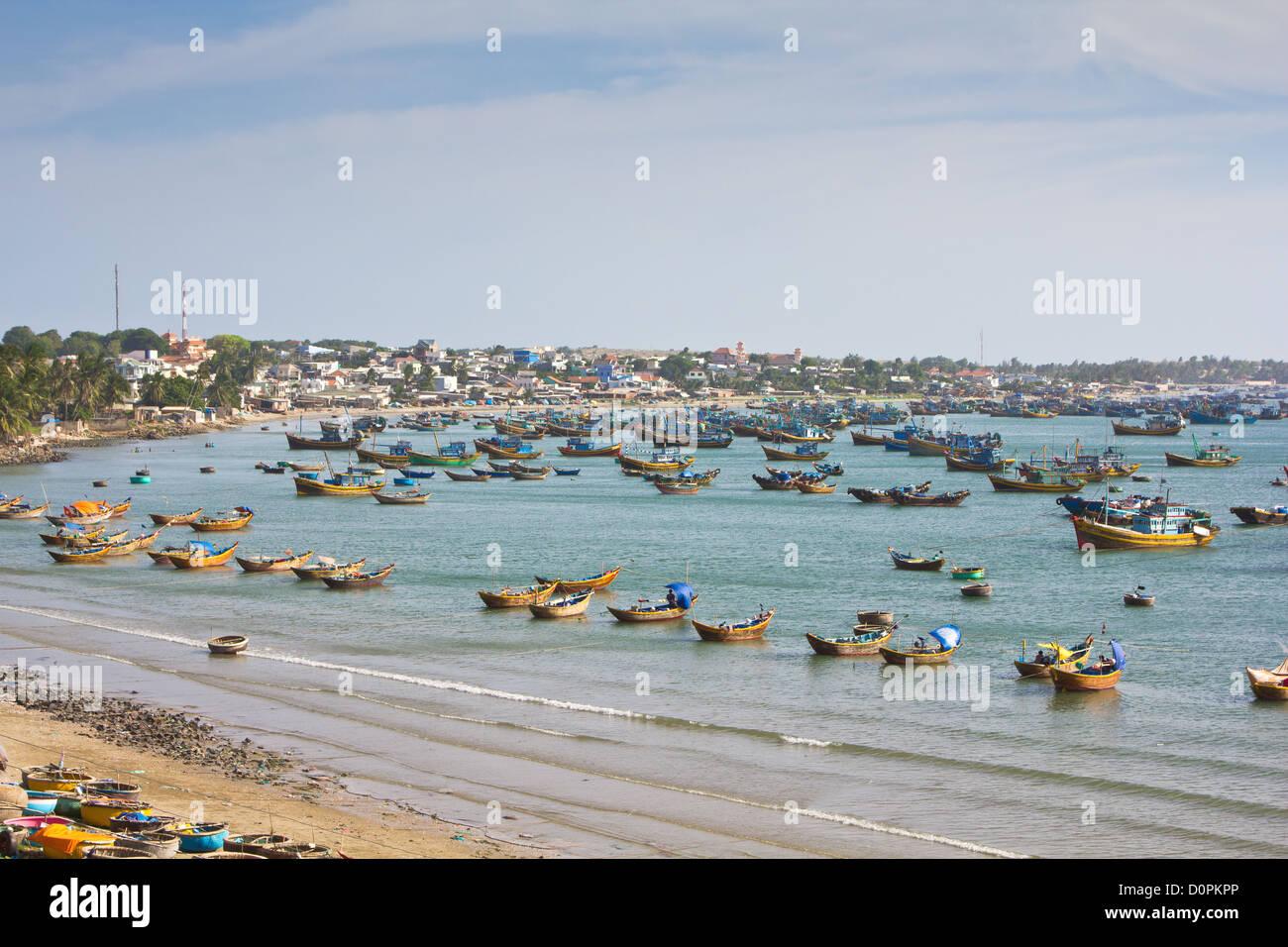 Fishing village in Mui Ne,Vietnam - Stock Image