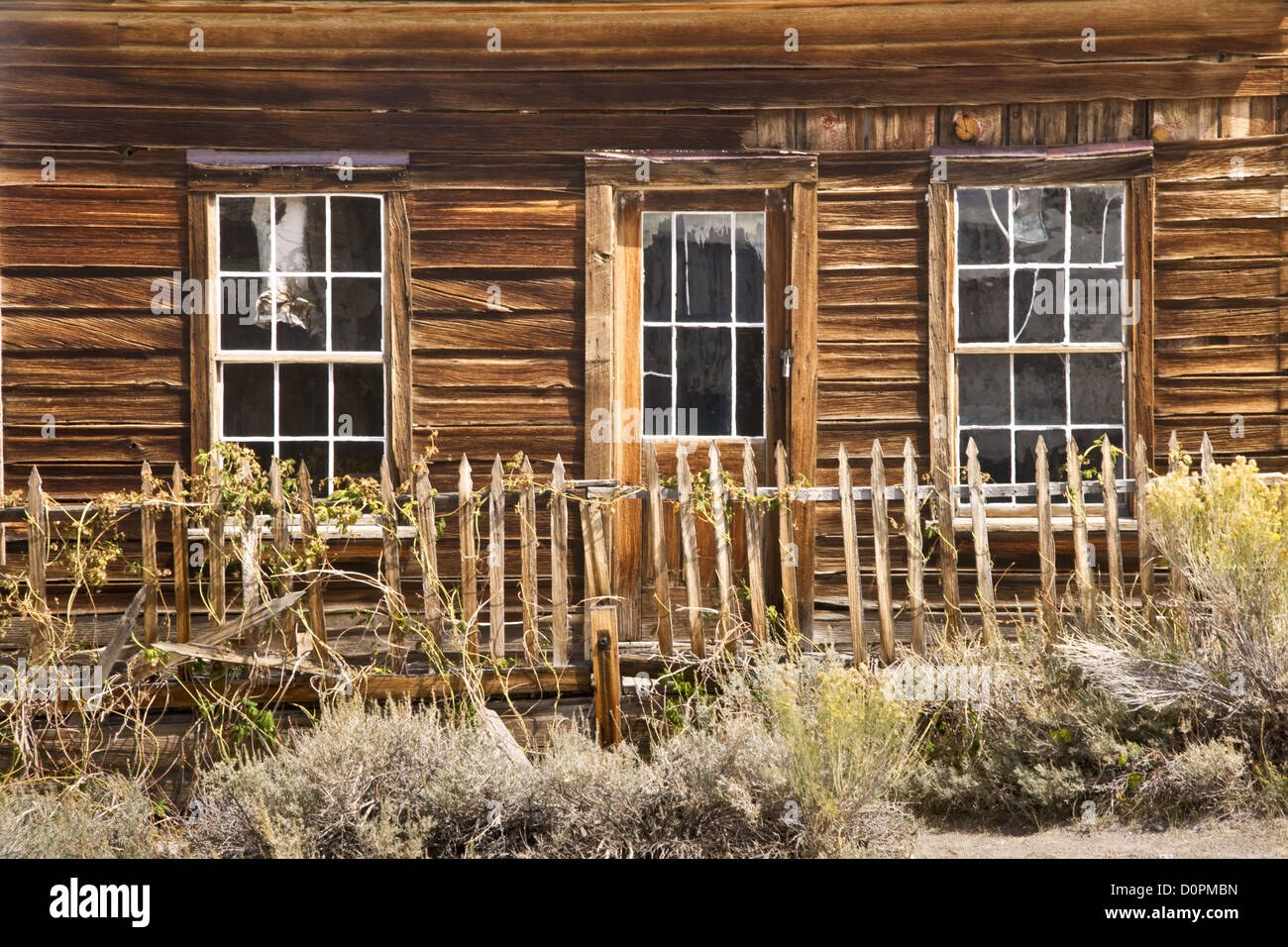 Rustic House in a Ghost Twon - Stock Image