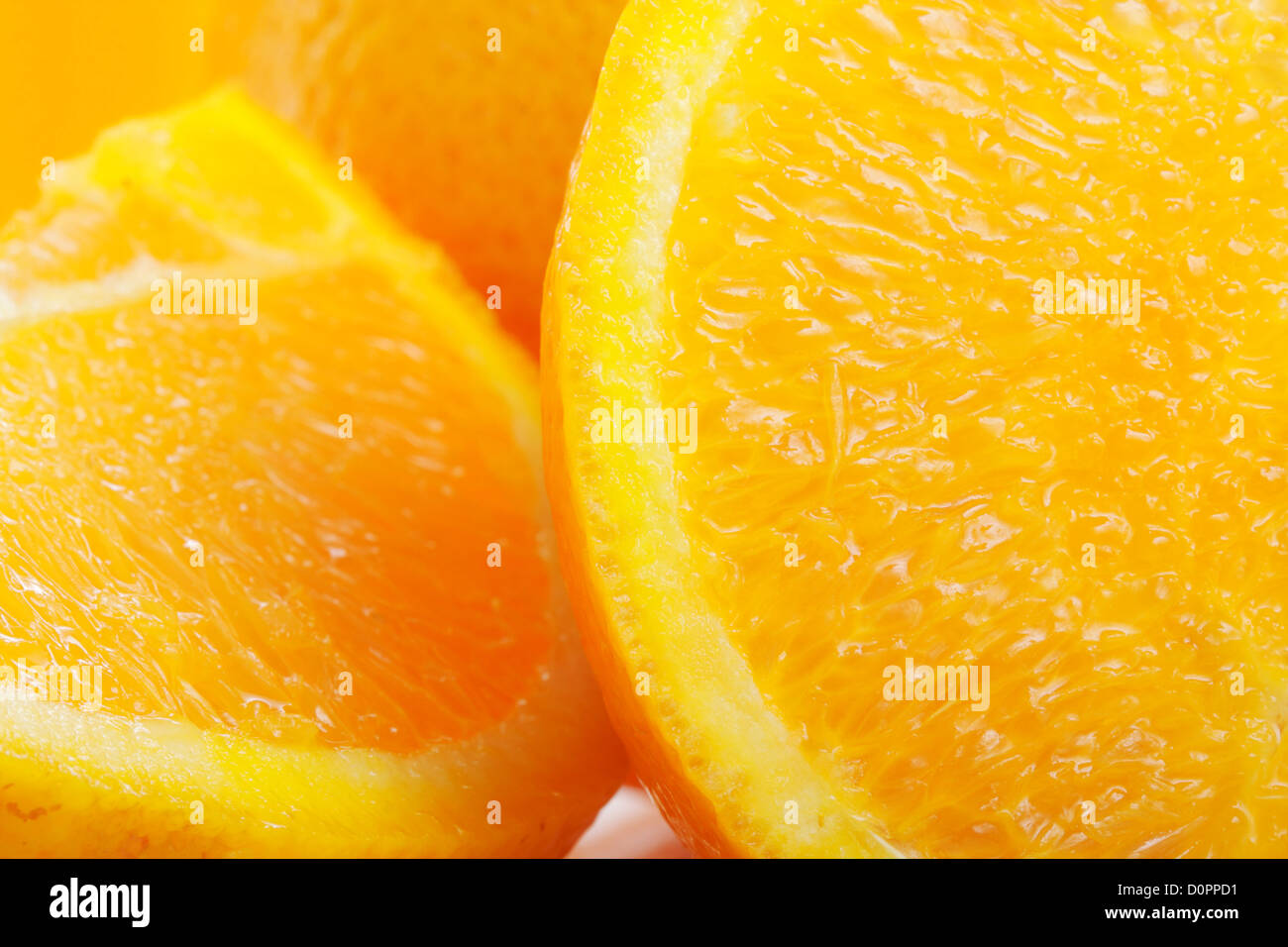 Cut oranges - Stock Image
