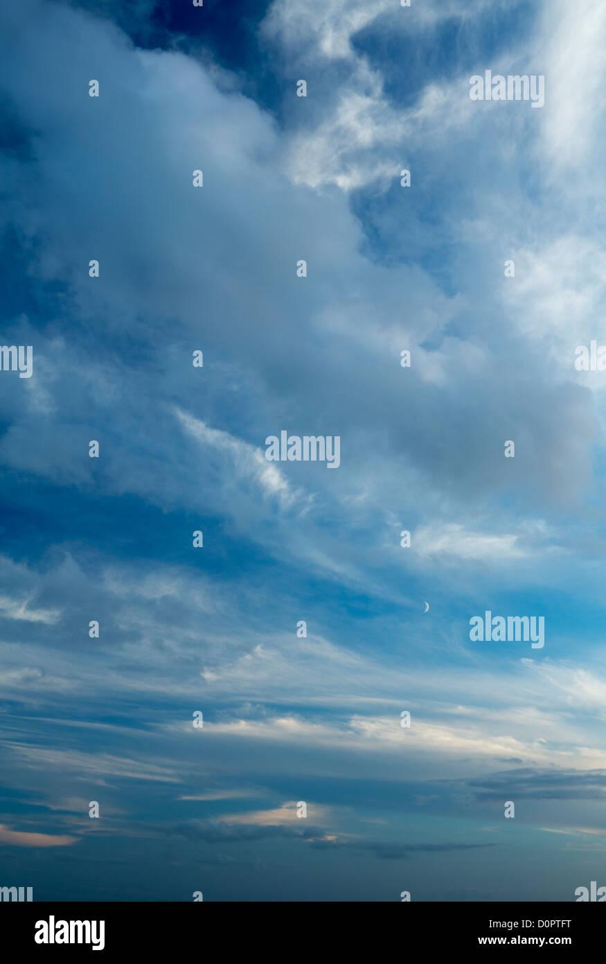 sky, Somerset, England, UK - Stock Image
