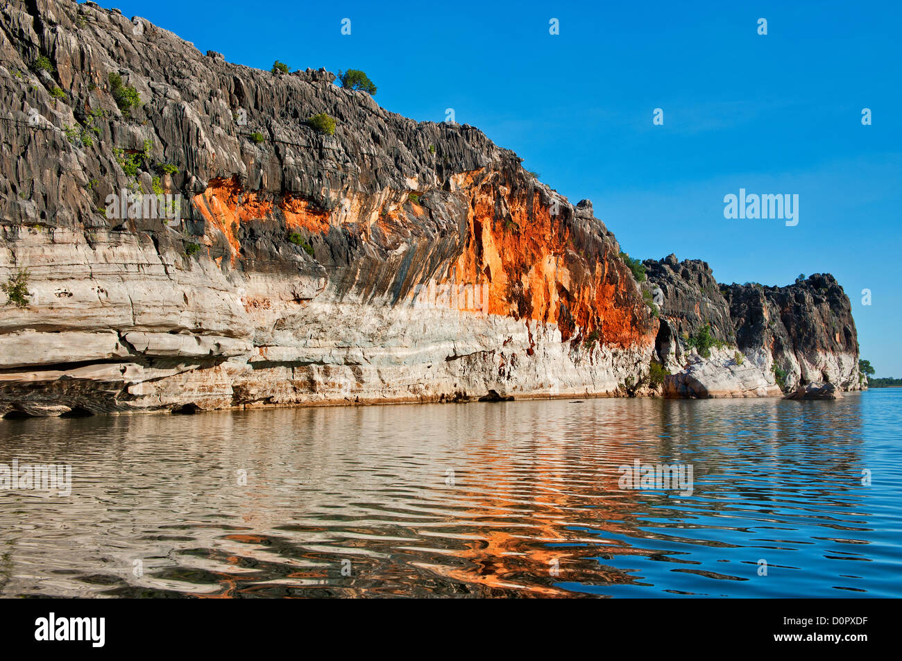 Reflections of Geiki Gorge. - Stock Image