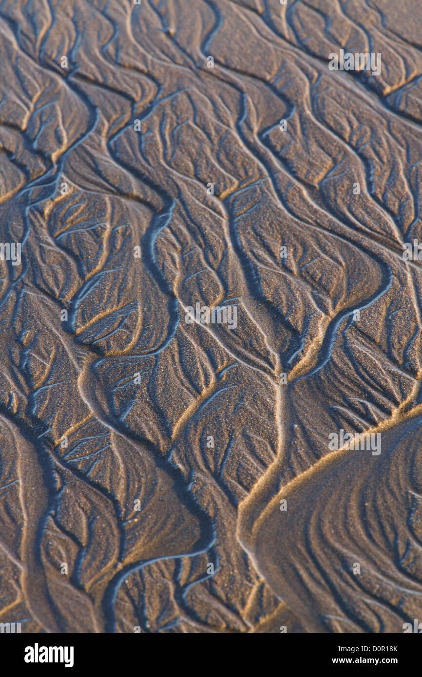 Sand Patterns, Lake Clark National Park, Alaska. - Stock Image