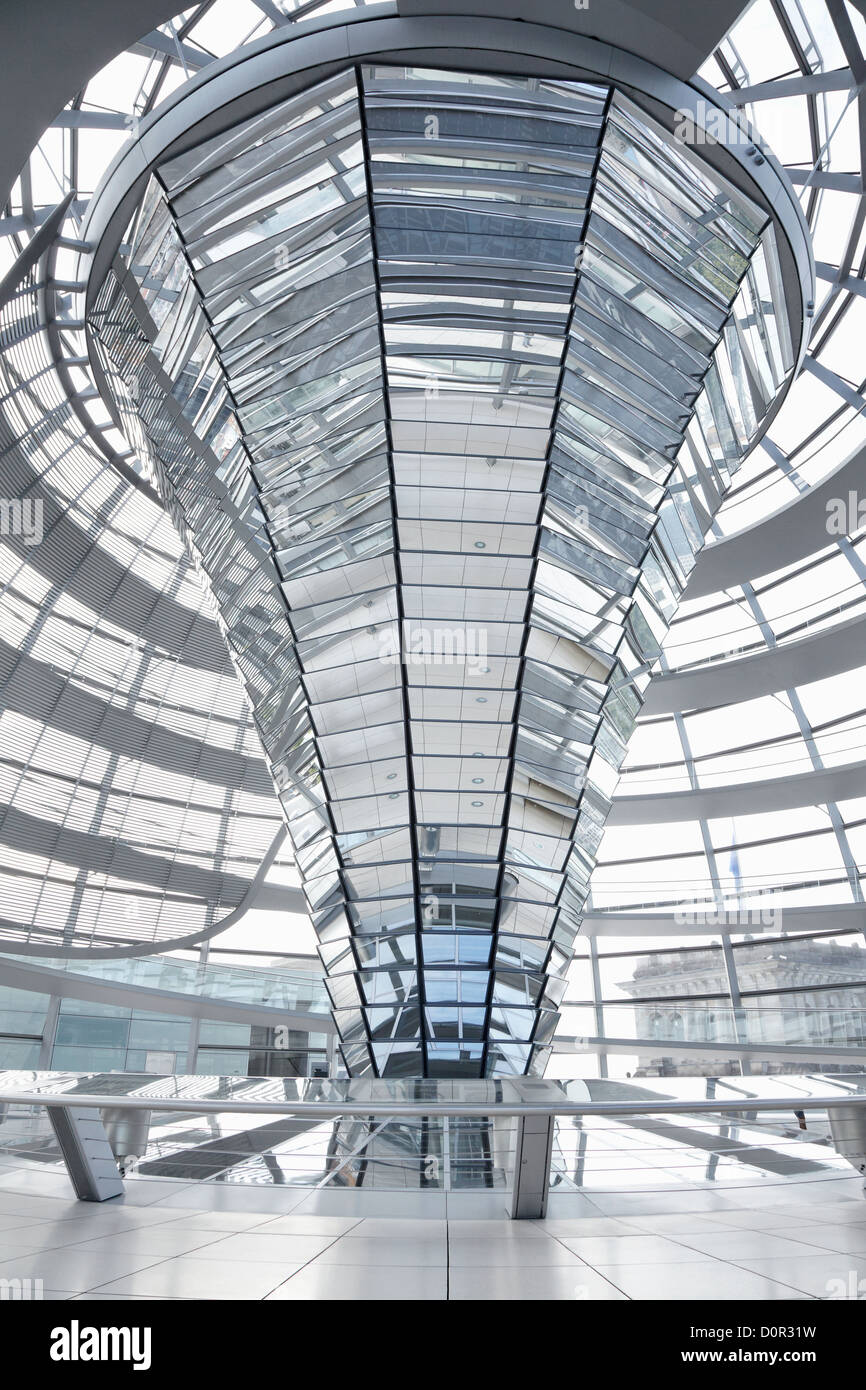 Reichstag Dome, Berlin modern achitecture of the government building - Stock Image