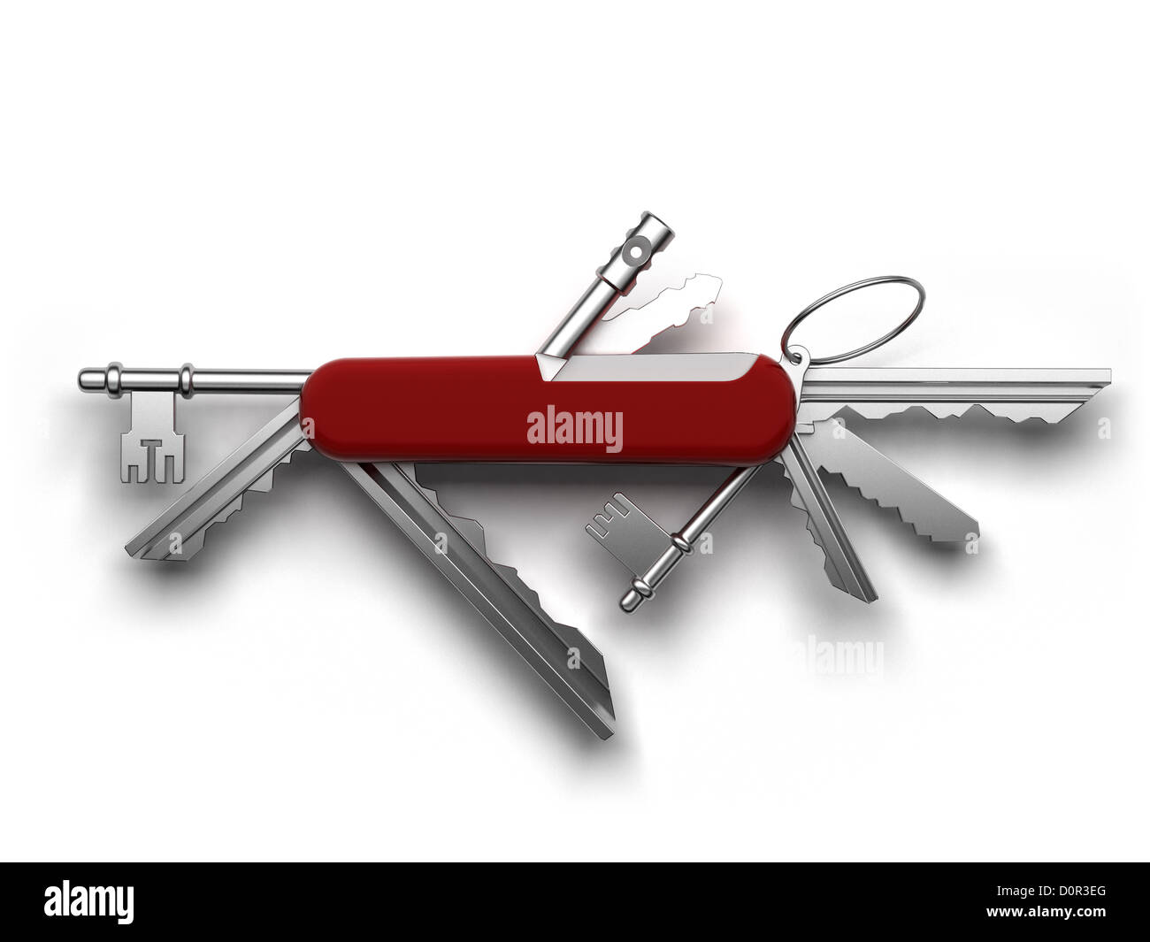 Universal tool for opening all the locks - Stock Image