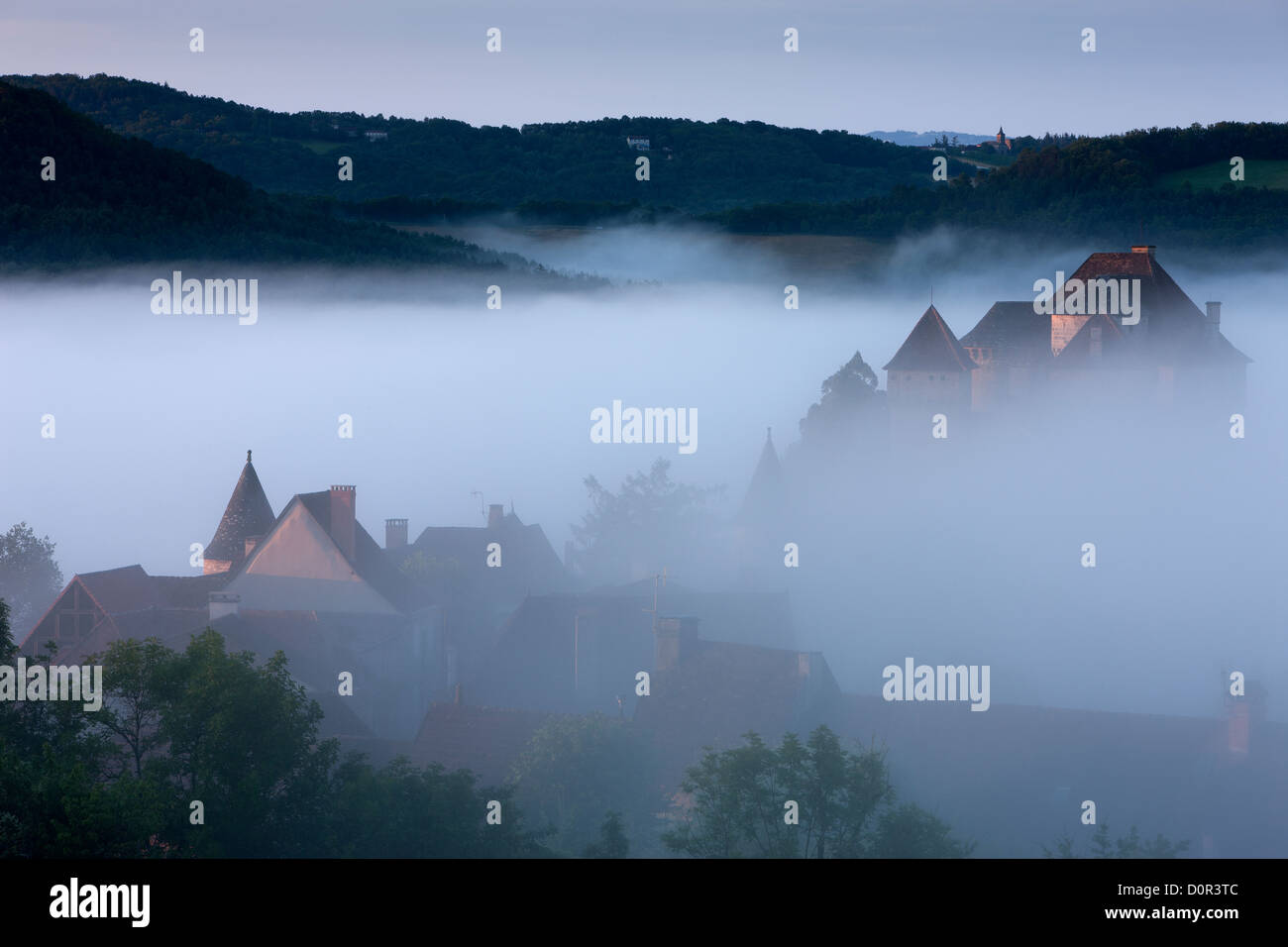 Curemonte, Corrèze, Limousin, France - Stock Image