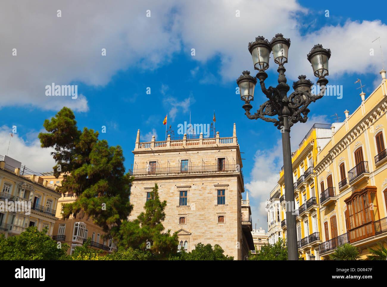 Plaza de la Reina - Valencia Spain Stock Photo