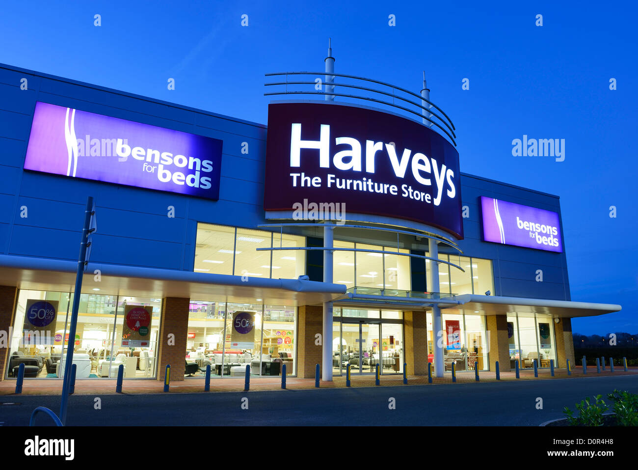 Harveys Furniture Store and Bensons for Beds - Stock Image