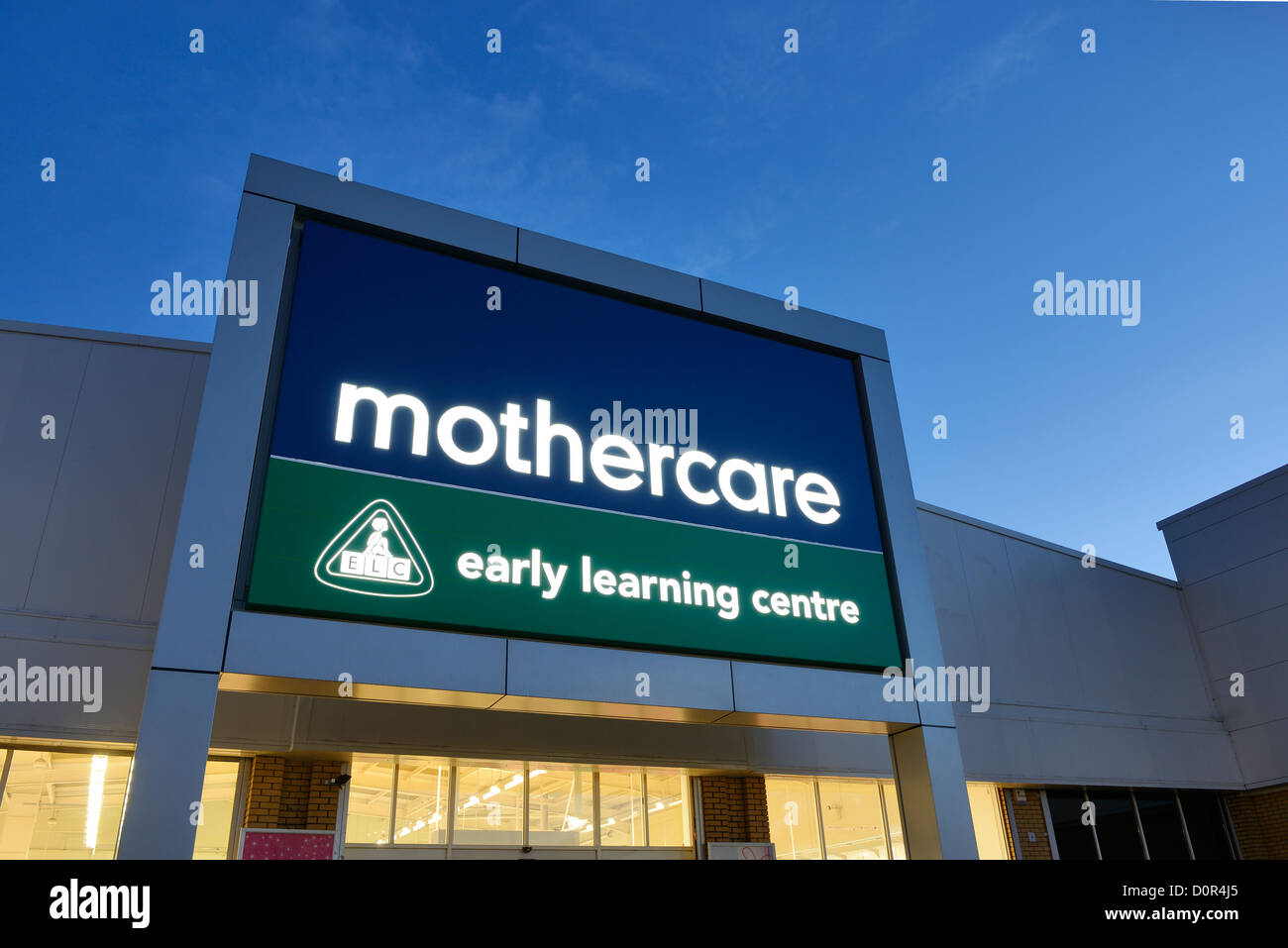 Mothercare and Early Learning Centre retail unit shop entrance - Stock Image