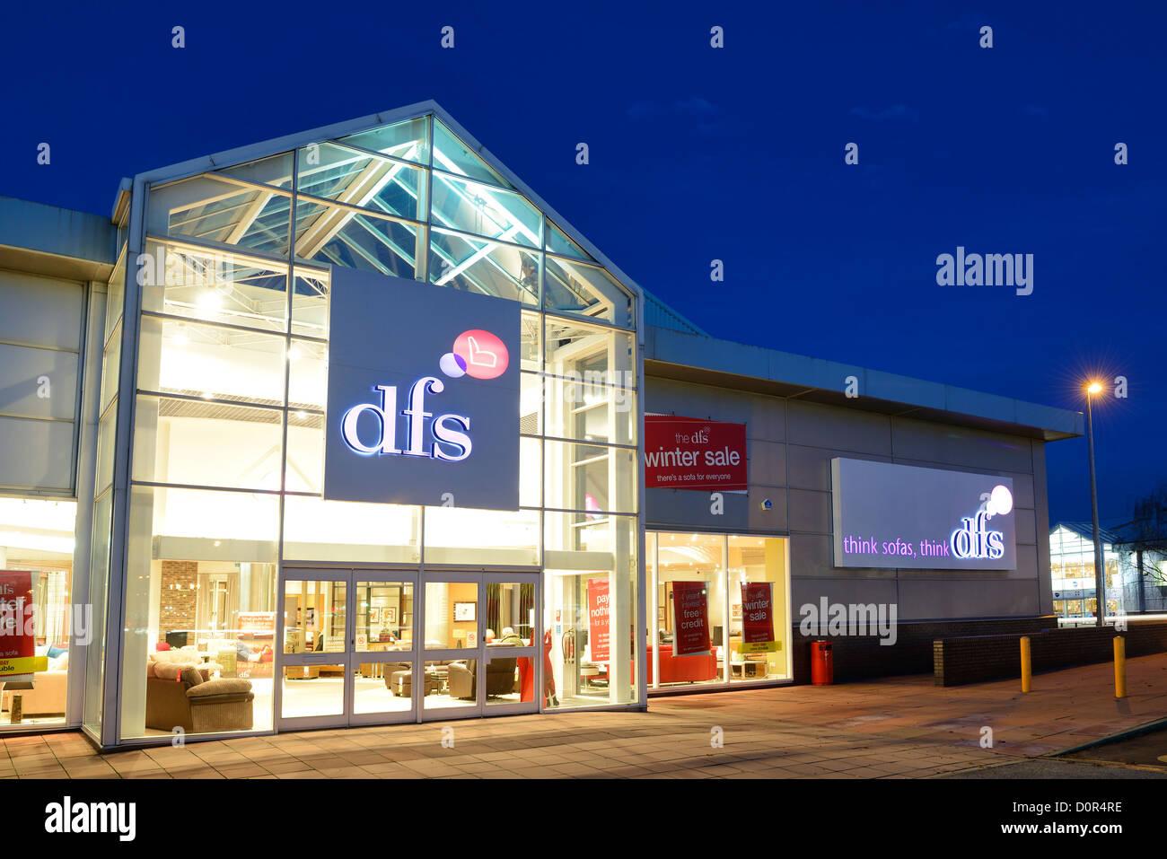 DFS retail unit shop entrance - Stock Image