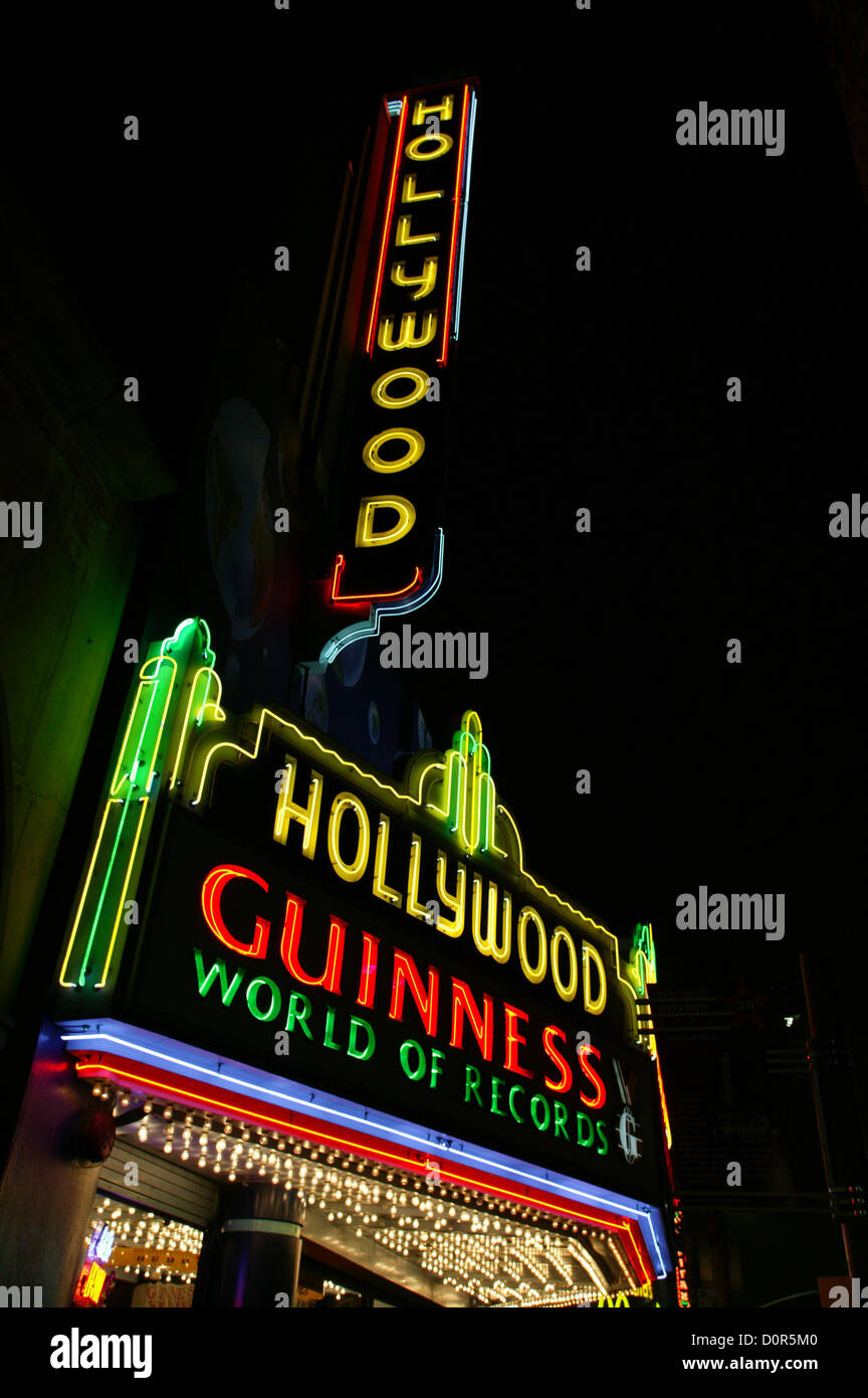 Guinness World of Records, Hollywood, CA - Stock Image