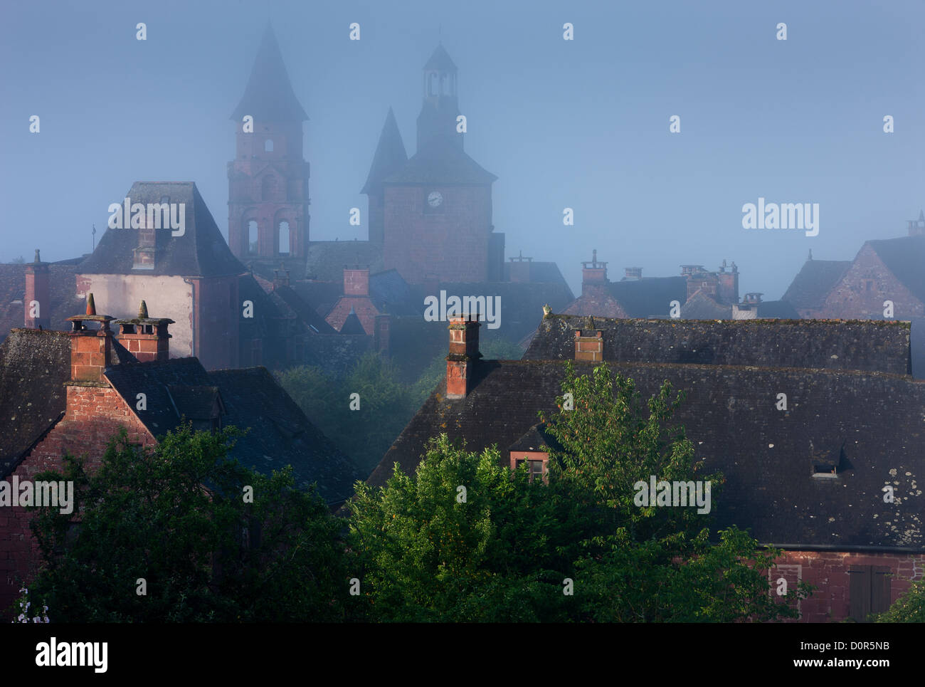Collonges-la-Rouge, Corrèze, the Limousin, France - Stock Image