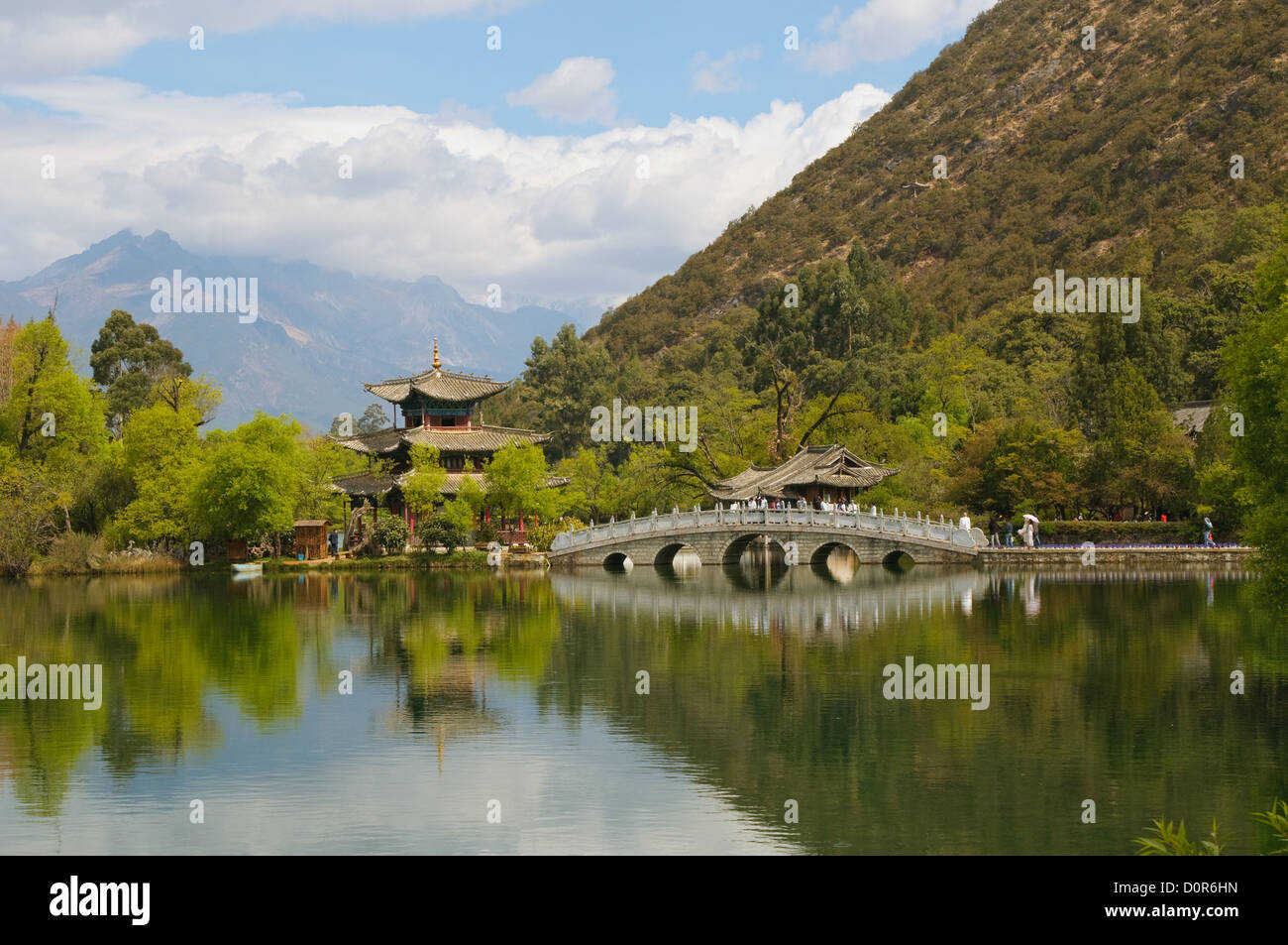 Black dragon pool, Lijiang, China - Stock Image