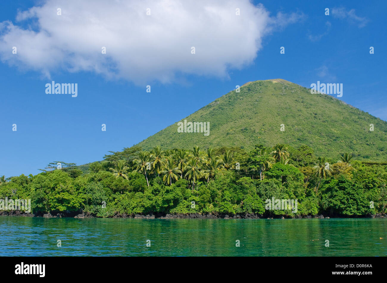 Gunung Api volcano, Banda islands, Indonesia - Stock Image