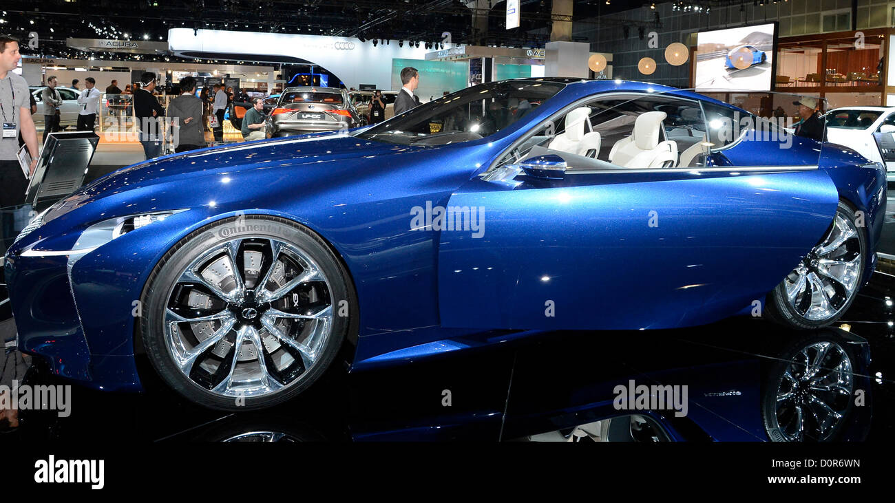 Nov 28,2012. Los Angeles CA. The new concept Lexus LF-LC car on ...