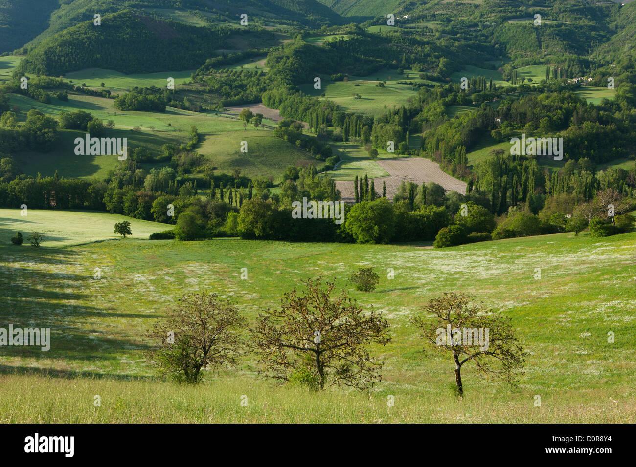 the Valnerina, Monti Sibillini National Park, Umbria, Italy - Stock Image