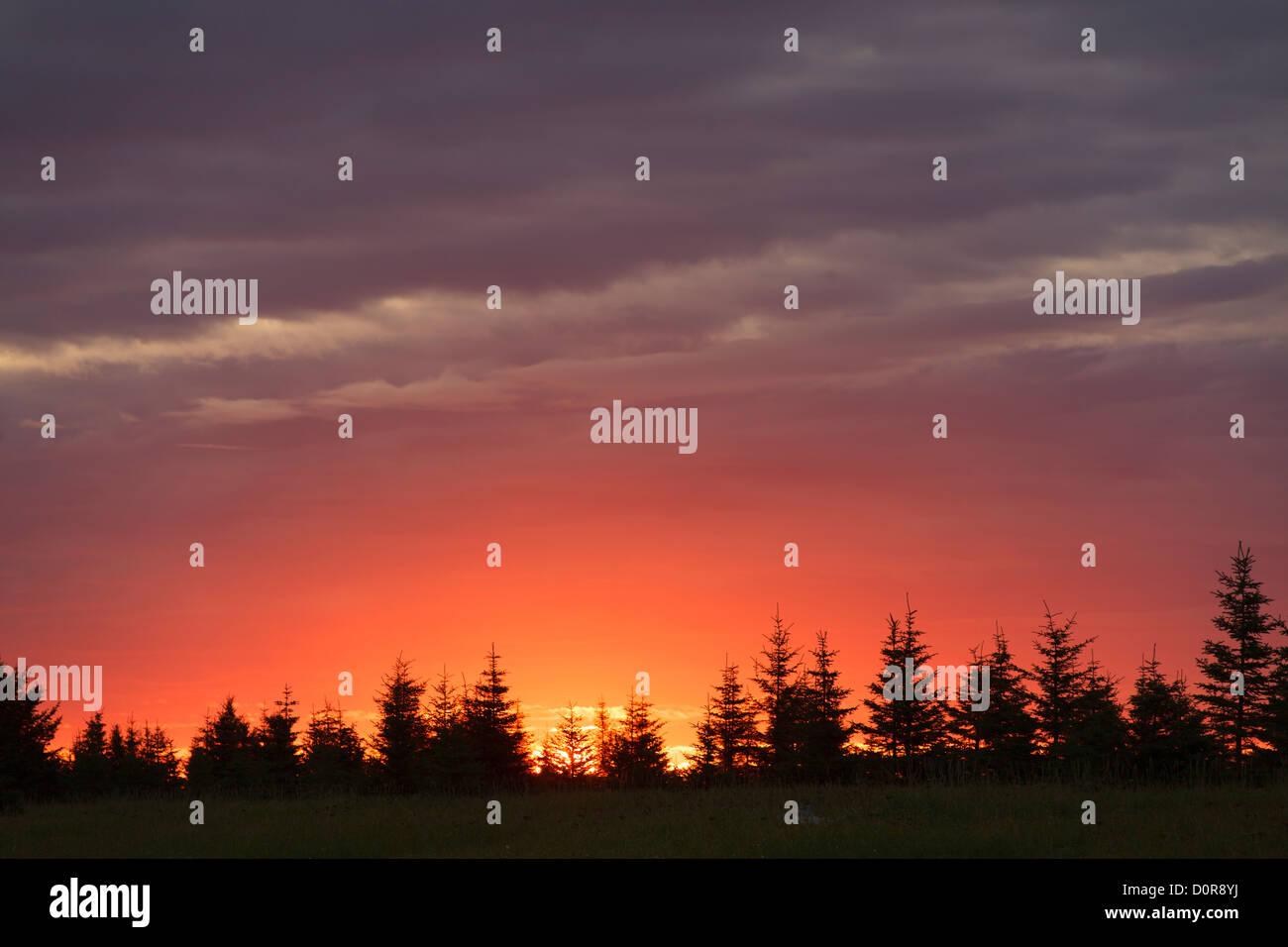 Sunrise at Lake Clark National Park, Alaska. - Stock Image