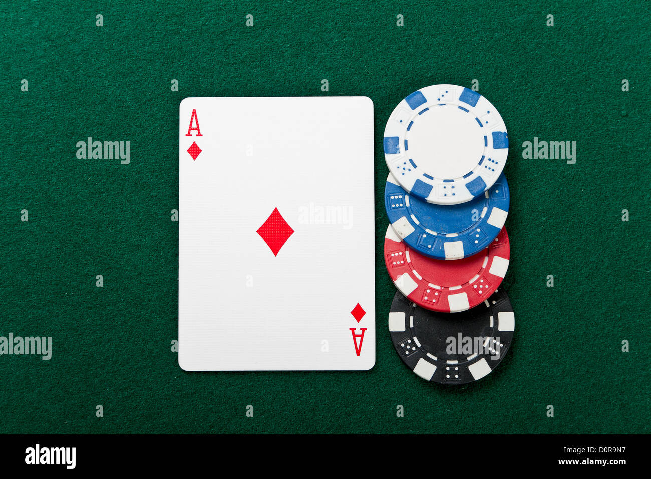 Chip and cards for the poker. - Stock Image