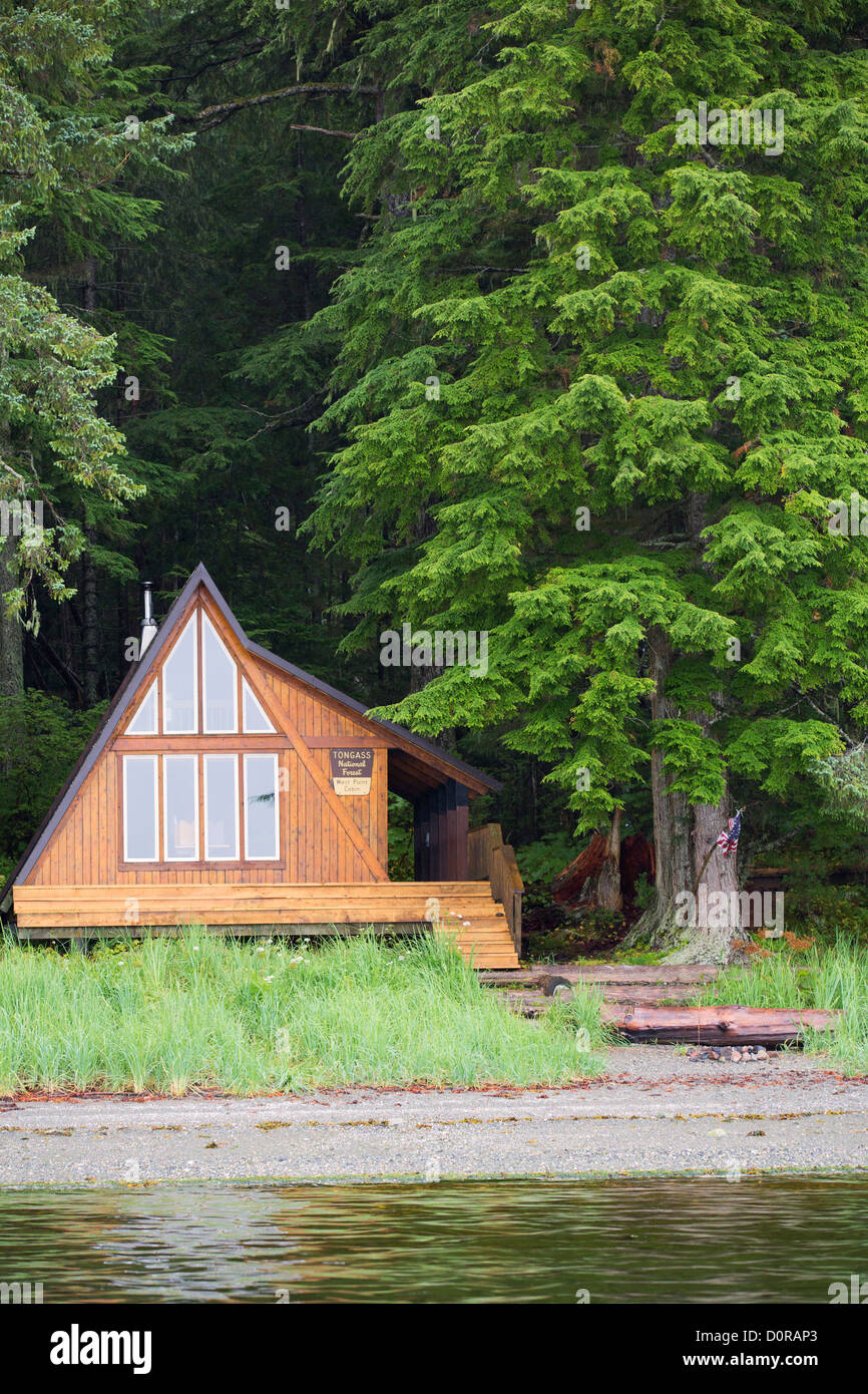 West Point Cabin, Tongass National Forest, Alaska. - Stock Image
