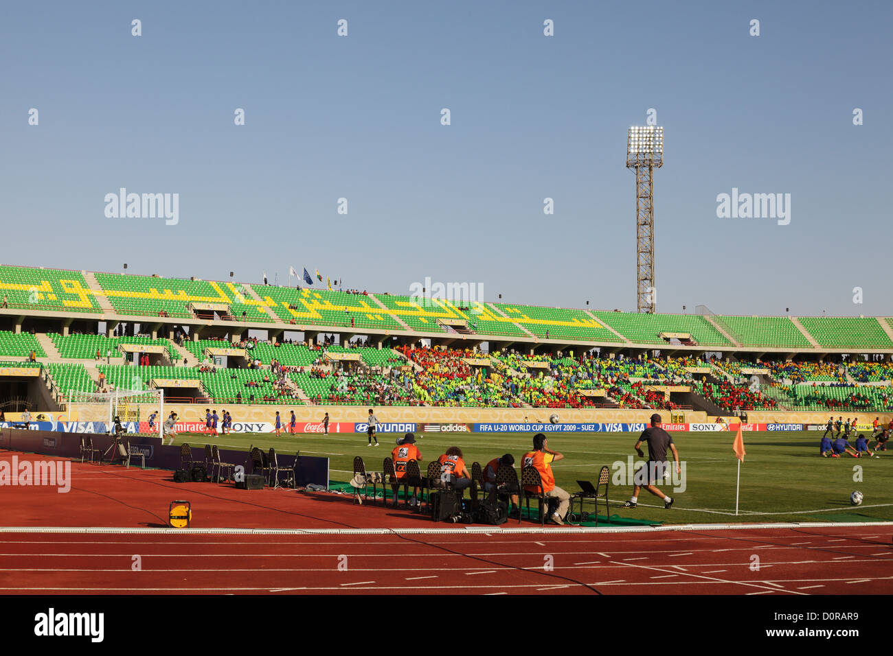 General view of Mubarak Stadium ahead of the 2009 FIFA U-20 World Cup quarterfinal match between South Korea and - Stock Image