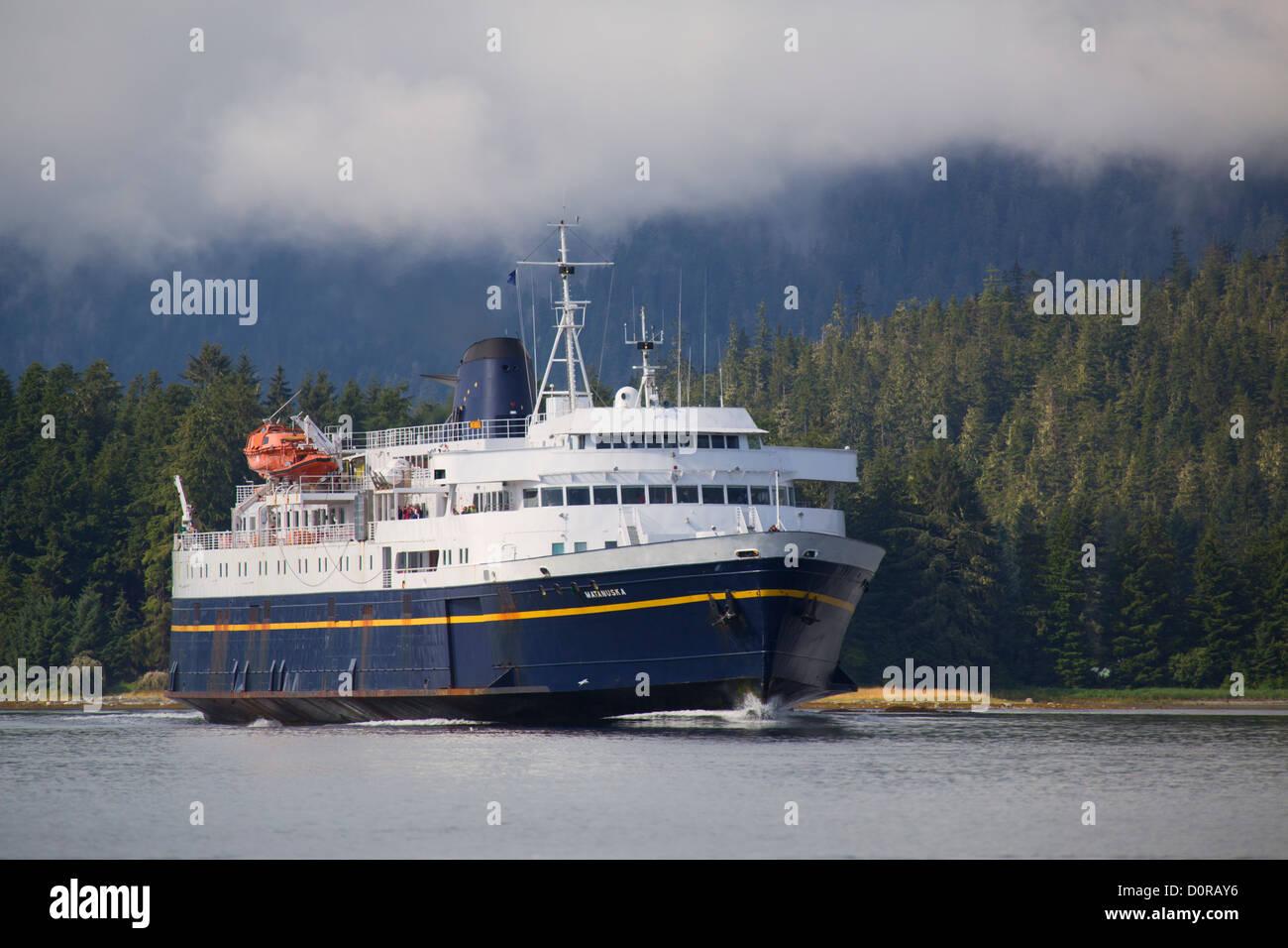 Alaska State Ferry Matanuska, Petersburg, Alaska. - Stock Image