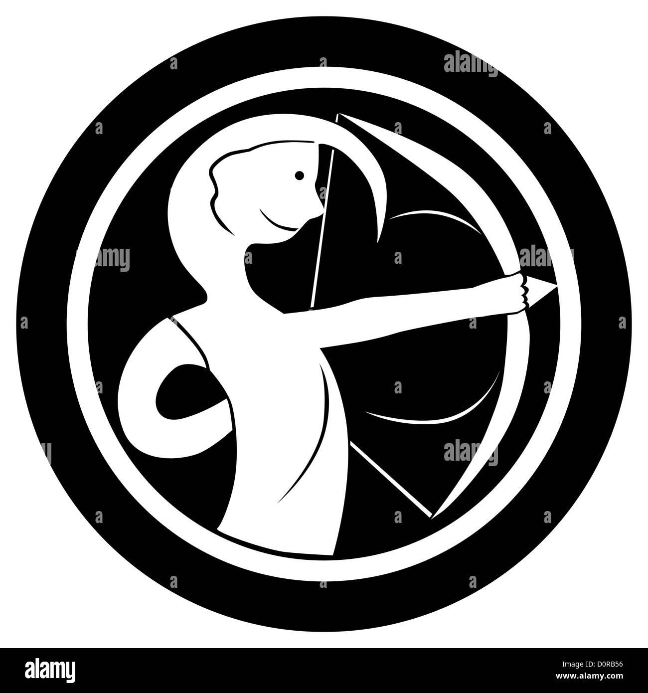 0d09a6ef0f1c7 Zodiac sign, Sagittarius tattoo Stock Photo: 52144770 - Alamy