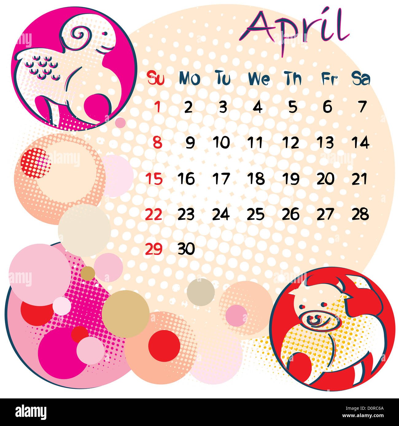 Horoscope Sign Aries Month April Stock Photos