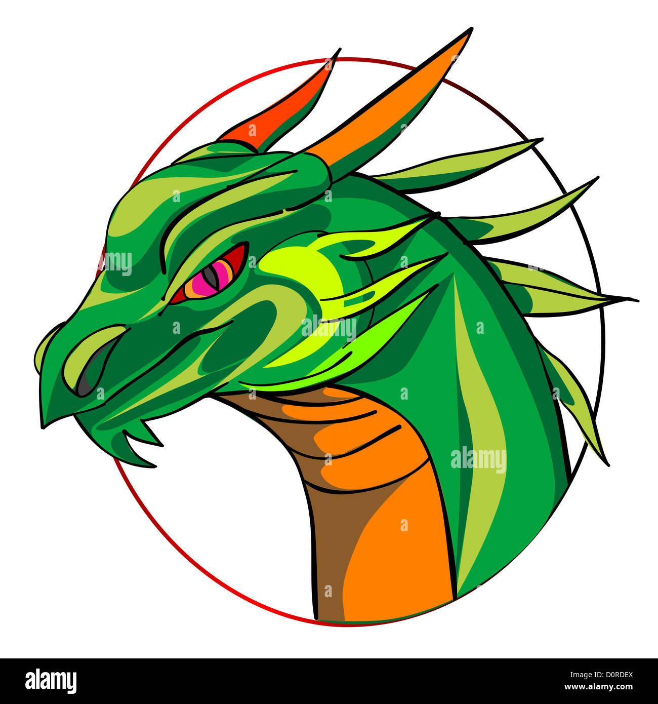dragon sign - Stock Image