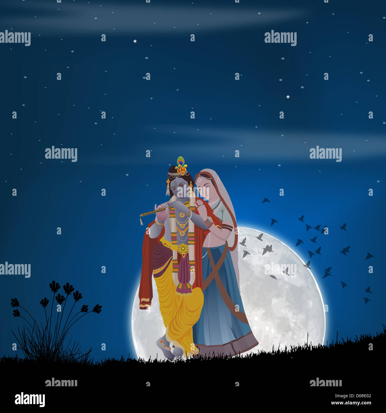 lord krishna with goddess radha D0RE02