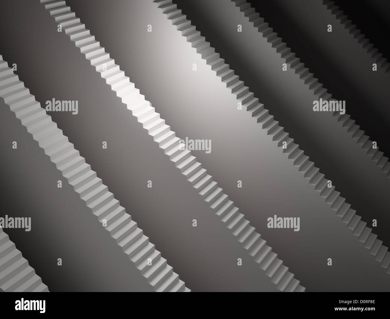 Abstract endless staircases - Stock Image