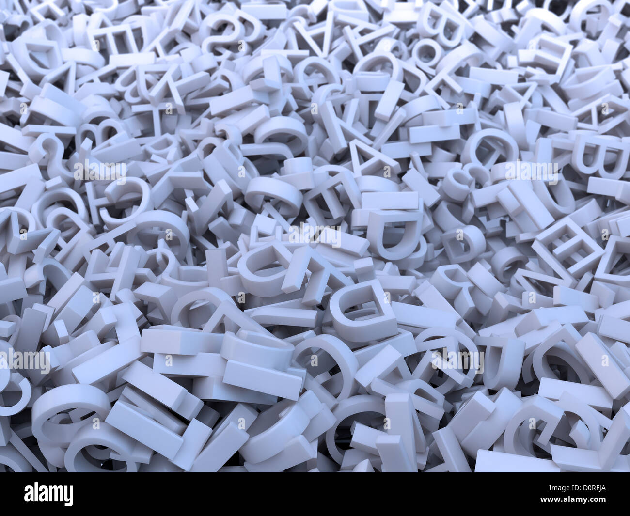 Random letters - Stock Image