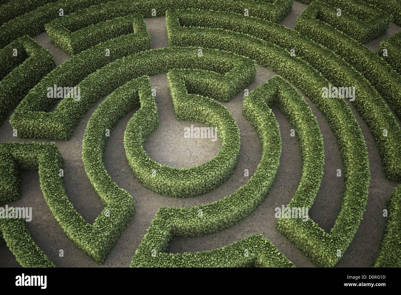 Garden maze - Stock Image