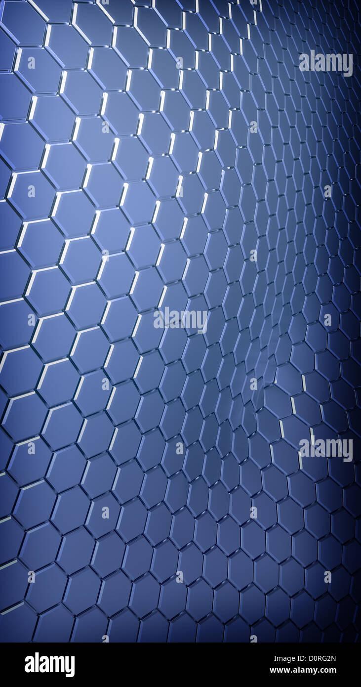 Abstract hexagonal tech bakground - Stock Image