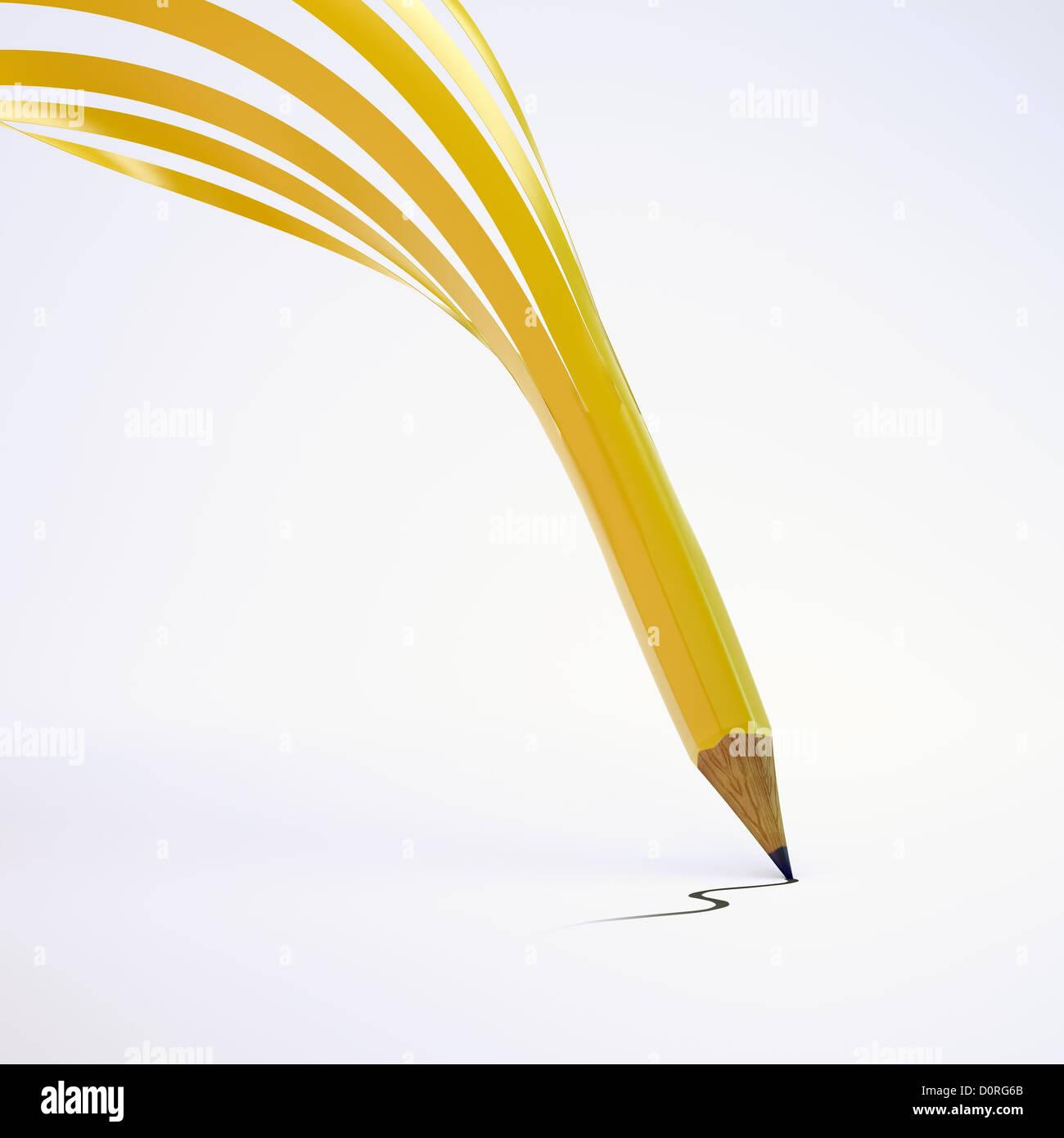 Magic pencil - Stock Image