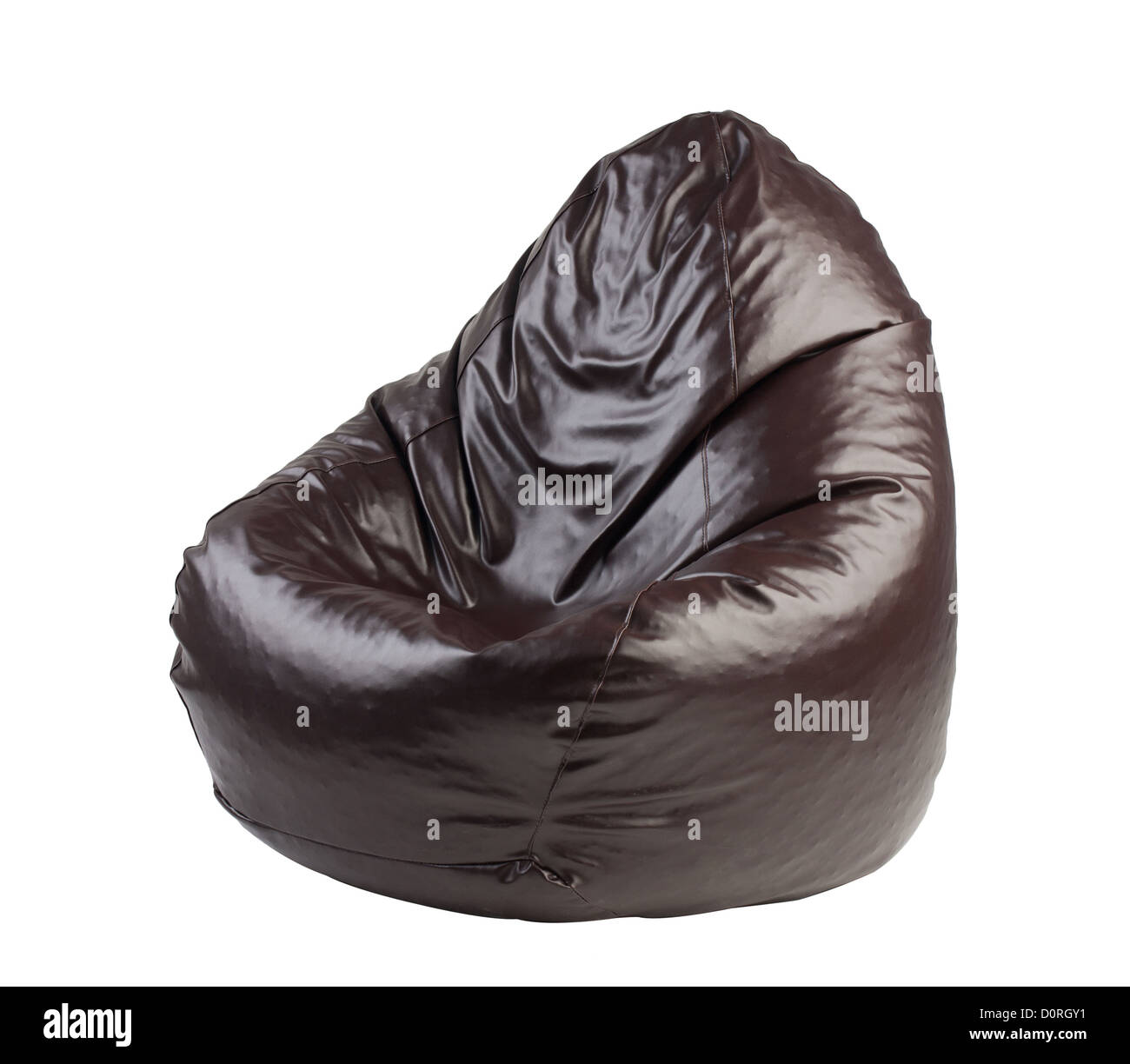 beanbag a comfortable seat isolated - Stock Image