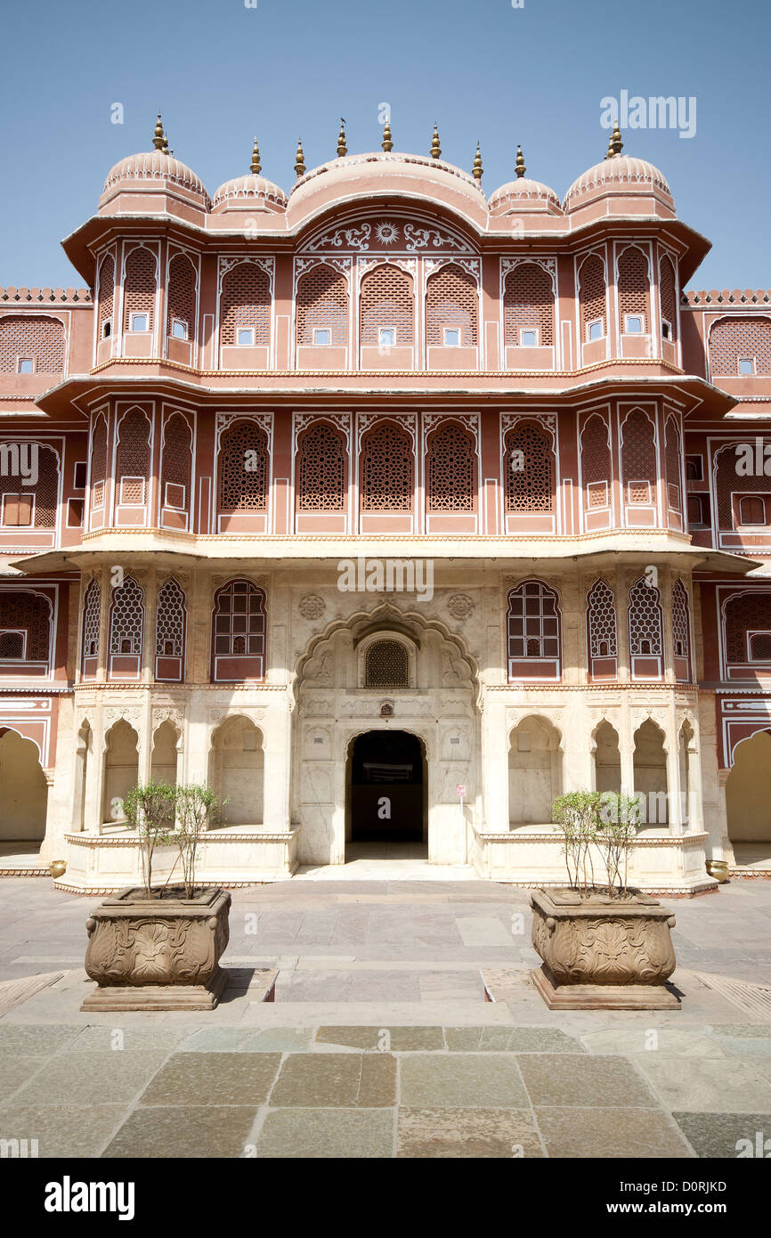 Chandra Mahal - Cipty Planase in Jaipur Stock Photo