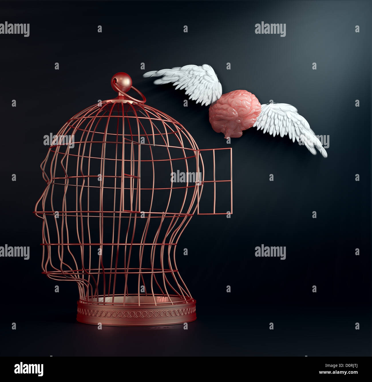 Winged brain - Stock Image